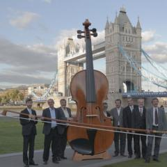 World's biggest violin goes from Guinness record to music fair