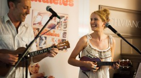 The Ukuleles dazzle the crowds at Musicroom London