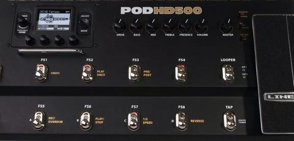 Line 6 POD HD Multi-Effect Pedals – HD500, HD400 & HD300