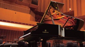 New Yamaha grand concert piano used for festival performances