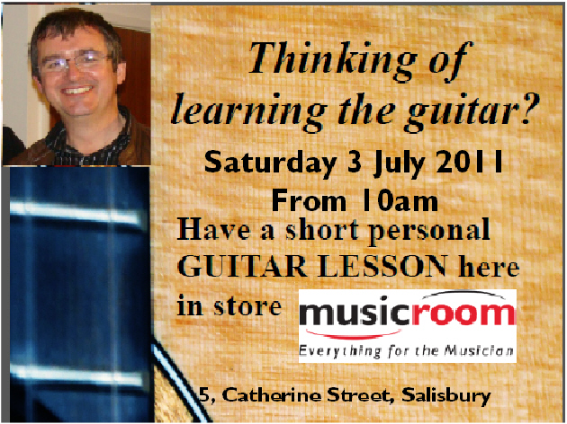 Free introductory guitar lessons in Salisbury