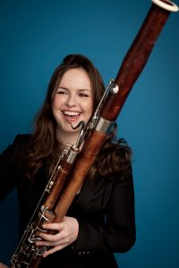 Amy Harman with a Bassoon