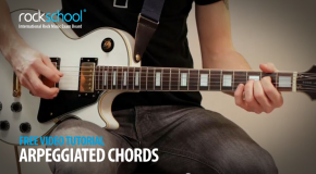 Rockschool offer up arpeggiated chords guitar tutorial