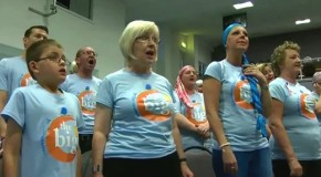 The Big C Choir in full voice against cancer