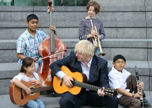 Children pick up first of Mayor's music scholarships