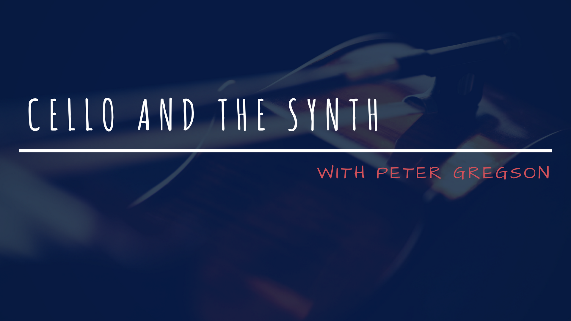 Cellos and Synths with Peter Gregson