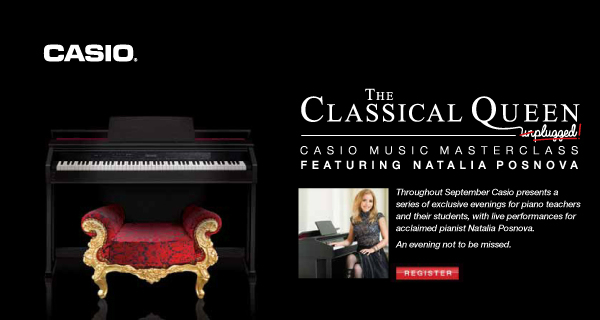The Classical Queen Casio Masterclass with Natalia Posnova at Musicroom Edinburgh – September 19 2013