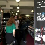 Customers, tutors and students begin to arrive for Rockschool Live