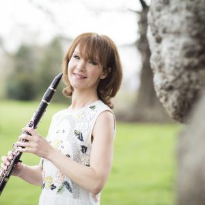 Emma Johnson with her Clarinet