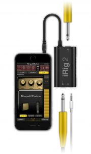 The iRig2 Mobile Guitar Interface can connect to iOS and Android devices.