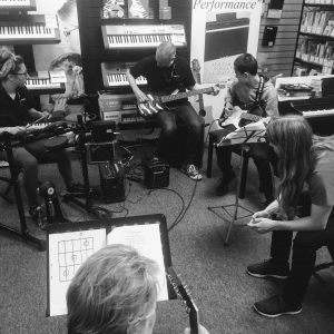 Band practice at Musicroom Edinburgh