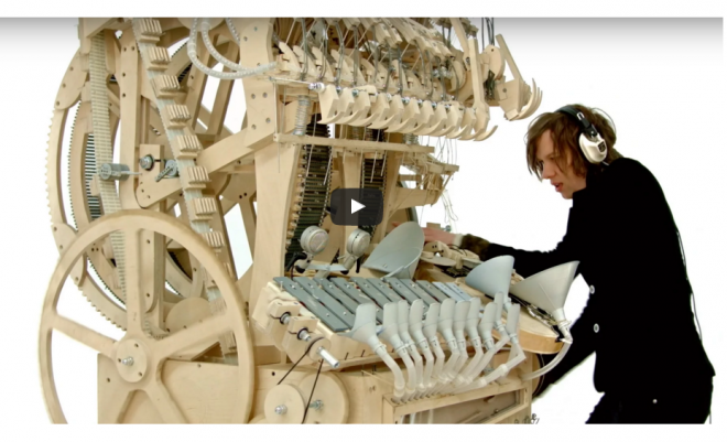 A Musical Instrument Made With 2,000 Marbles and 3,000 Parts