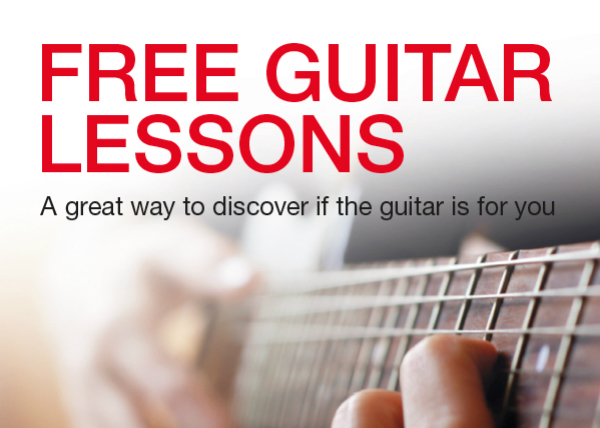 Free guitar lessons with Johnny Milan at Musicroom Lincoln – August 20