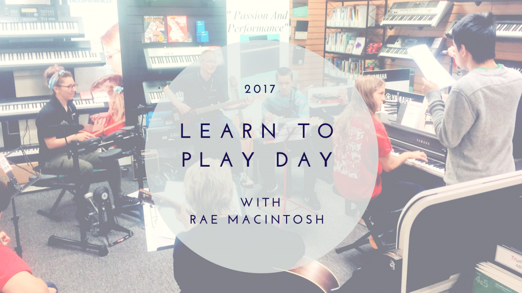2017's Learn To Play Day with Rae Macintosh Musicroom