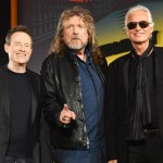 John Paul Jones, Robert Plant and Jimmy Page at the Celebration Day film premiere.