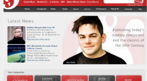 Music Sales Classical launches new website for its classical publishing imprints