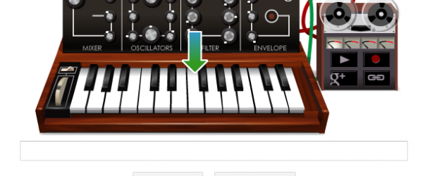 Google's homepage becomes a virtual Moog synth