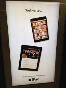 The Orchestra app as featured at Moorgate tube station, London.