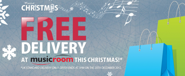 On the first day of Christmas: free delivery at Musicroom.com