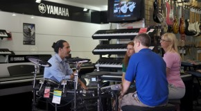Noam Lederman drops into Musicroom Portsmouth for Rockschool Live