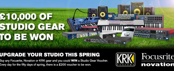 WIN: £1000 worth of gear to be won from Focusrite, Novation & KRK