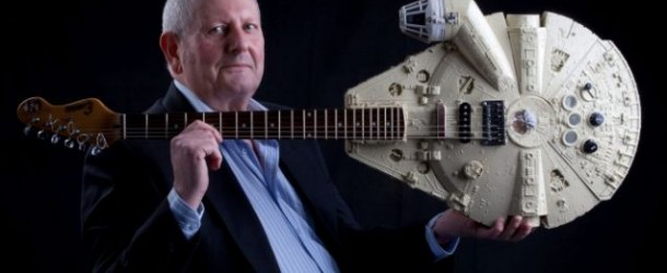 I can feel a great distortion in the force… Corby man creates Guitar Wars!
