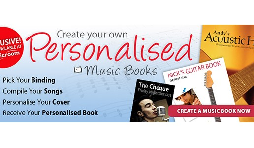 Musicroom.com launches 'Personalised Music Books'