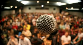 How do you deal with a heckling audience?