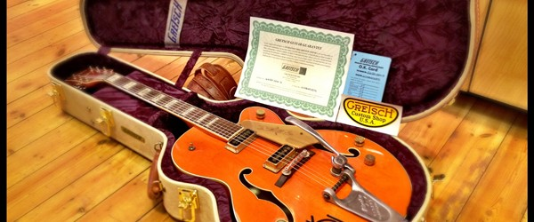 Unique handmade Gretsch Custom Shop guitar arrives in York