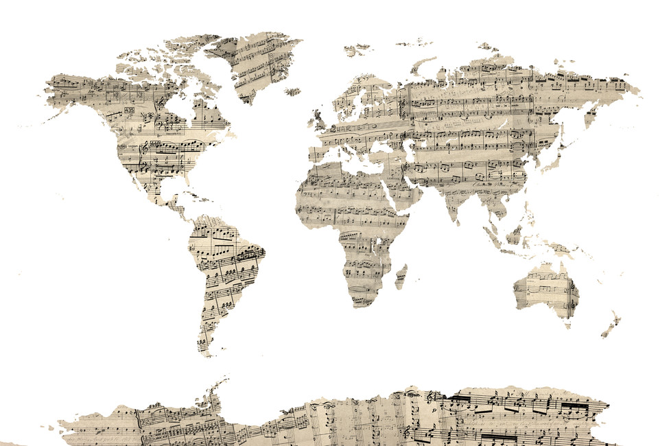 old-music-sheet-world-map