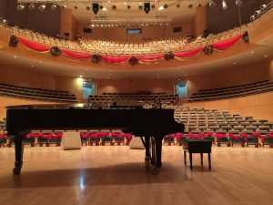 Piano in a Concert Hall